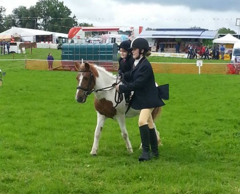 horse-riding at Tydavnet Show, Monaghan